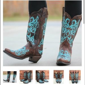 Corral Brown/Turquoise Women's Boots